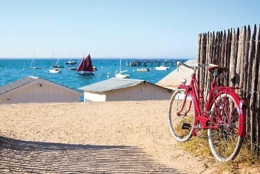 atlantique plage et bicyclette